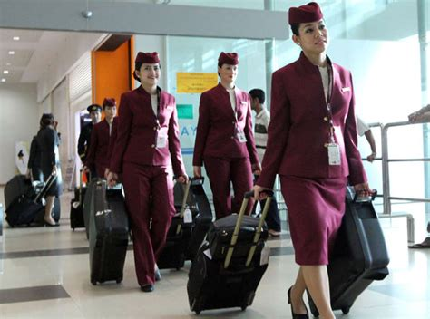 qatar airways flight attendant pramugari