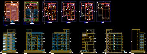 residential building  autocad cad   mb bibliocad