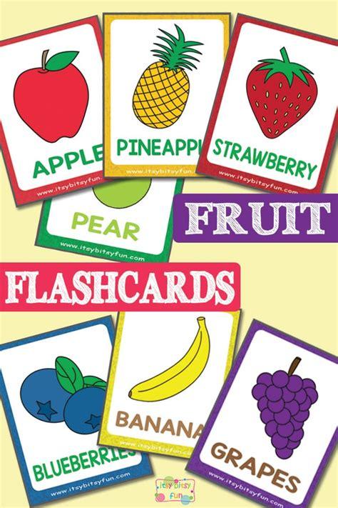 fruit flashcards itsybitsyfuncom