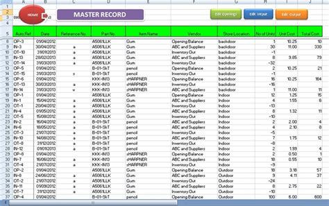 Excel Inventory Template 4 Inventory Management Templates Excel Excel Xlts