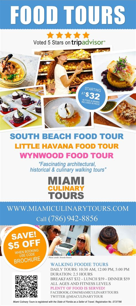 cuisine tours miami culinary tours flyers for 2014 and 2015