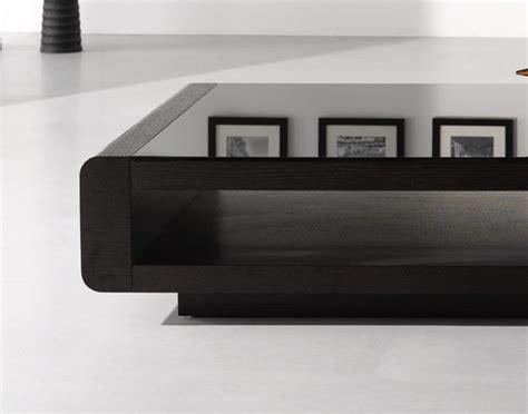 modrest lignite modern black oak coffee table coffee