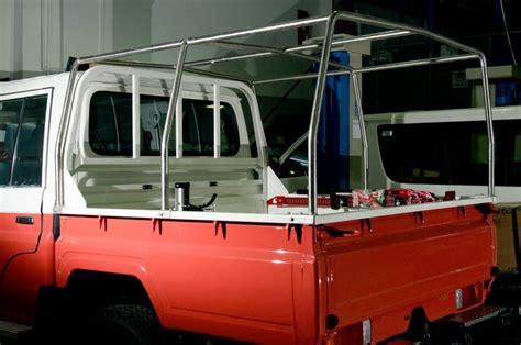 tar lc dcb land cruiser  double cabin pick  rear fabric canopy