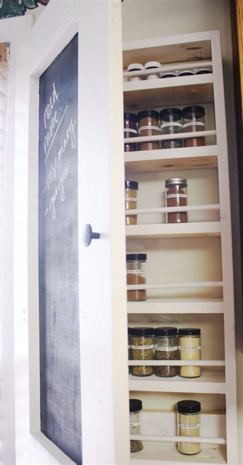 White Wood Spice Rack by Chalkboard Spice Rack Shanty 2 Chic