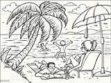 Beach Clip Vector Cartoons Illustrations Istock Illustration Istockphoto Rf sketch template