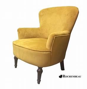 Fauteuil Crapaud Cuir : fauteuil tissu velours couleur moutarde ~ Teatrodelosmanantiales.com Idées de Décoration