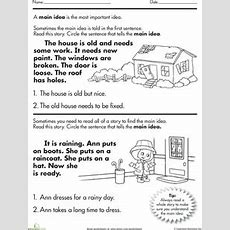 Main Idea Of A Story Worksheet  What's The, Comprehension And The O'jays