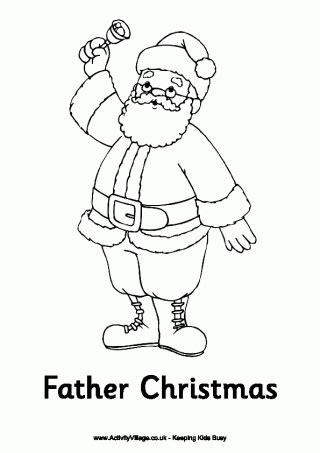 santa claus claus colouring page christmas