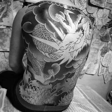 tattoo japanese grey cloud dragon sky designs shaded tattoos ink limit floating ascension mens ultimate frame