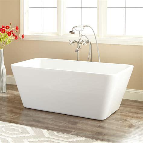 bathtub wall 53 quot baxter acrylic freestanding tub bathroom