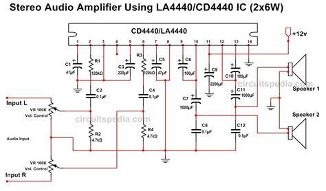 Tda Stereo Audio Amplifier Circuit Diagram