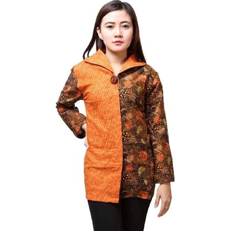 10 baju batik kantor lengan panjang elegan 1000 baju batik kantor