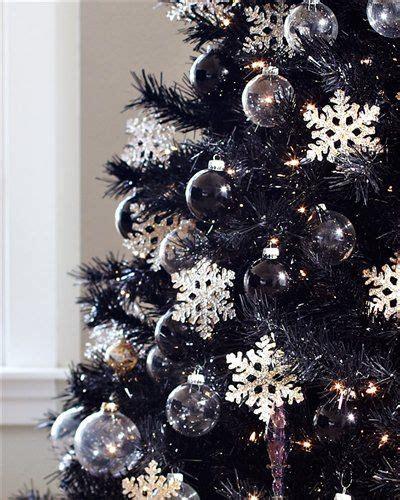 black christmas trees ideas  pinterest black