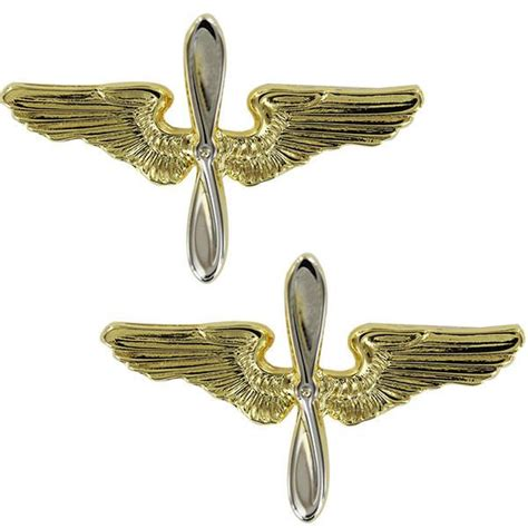 air force academy collar device gold wings  silver