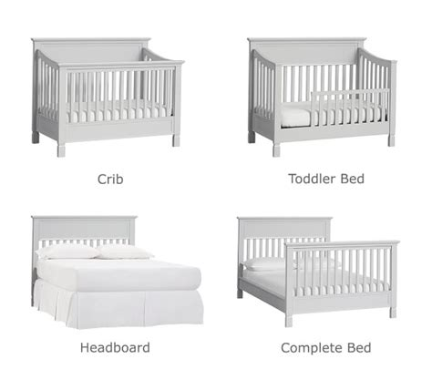 4 in 1 convertible cribs larkin 4 in 1 convertible crib pottery barn
