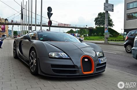 Gray Bugatti Veyron Vitesse Front Side Detail Spotted In