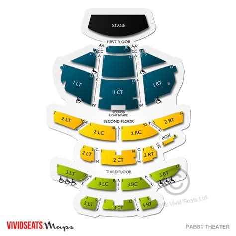 bureau connect pabst theater seating chart seats