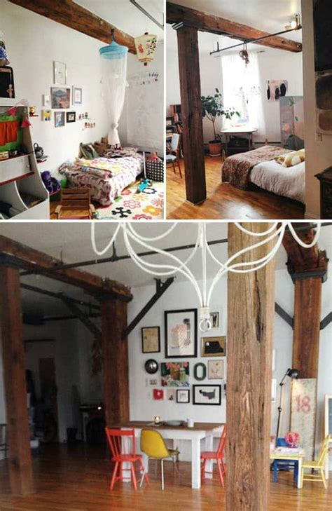 design ideas  spaces  exposed wooden beams