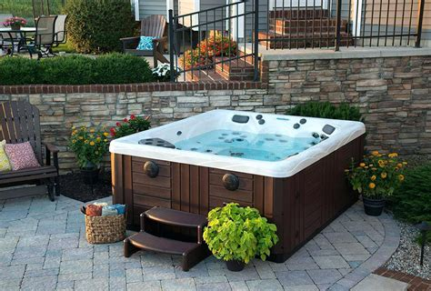 tub patio designs hot tub in small backyard seoandcompany co