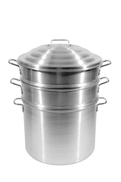 Town Food Service 16 Inch Aluminum Steamer Set   The
