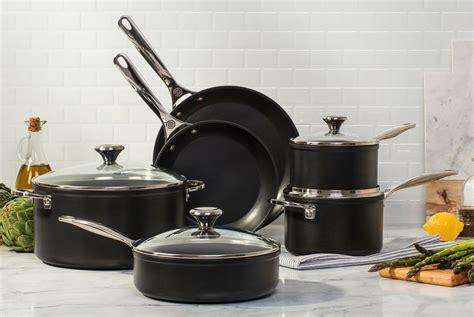 le creuset toughened nonstick cookware set  piece cutlery