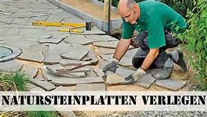 Terrasse Verlegen Preis : natursteinplatten verlegen youtube ~ Markanthonyermac.com Haus und Dekorationen