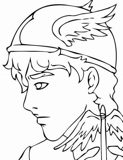 Greek Coloring Gods Pages Mythology God Apollo