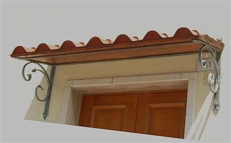 tettoia in ferro e policarbonato pensiline ferro battuto con tegole policarbonato