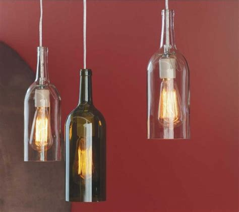 recycled wine bottle hanging lights lights