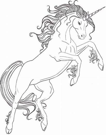 Unicorn Jumping Printable Coloring Pages Mythical A4