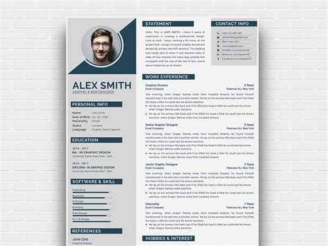 Curriculum Template Free by Free Modern Curriculum Vitae Template By Andy Khan On Dribbble