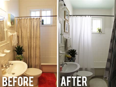 Burlap Shower Curtain by Bathroom Makeover Icing On The Cake Blog