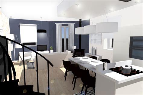 cuisine ouverte sur salon 30m2 amenagement sejour 30m2 fashion designs
