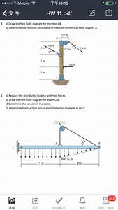 Solved  Draw The Free Body Diagram For Member Ab  Determin