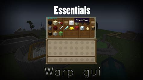 essentials warp gui opensource spigotmc high