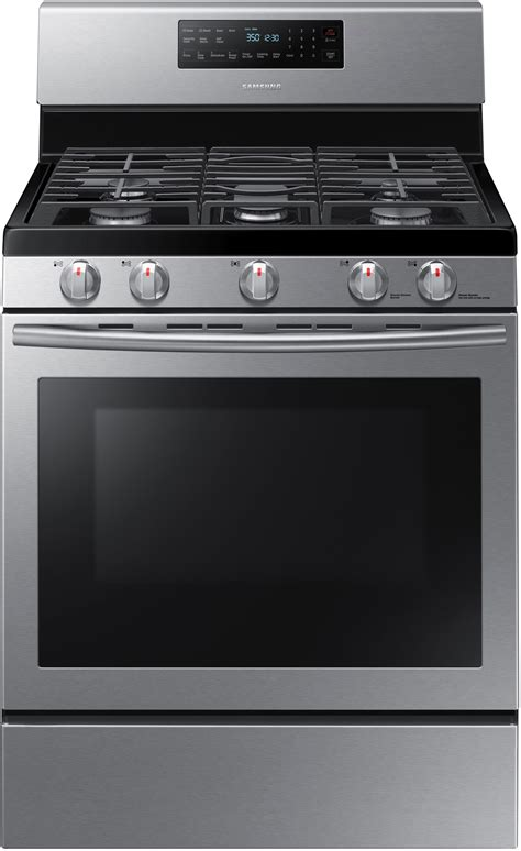 samsung nxhss   freestanding gas range  convection griddle  cleaning