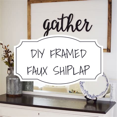 Framed Shiplap by Diy Framed Faux Shiplap Mint Designs