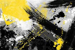 "Maxwell Dickson ""Yellow Jacket"" Abstract Pop Canvas Print ..."