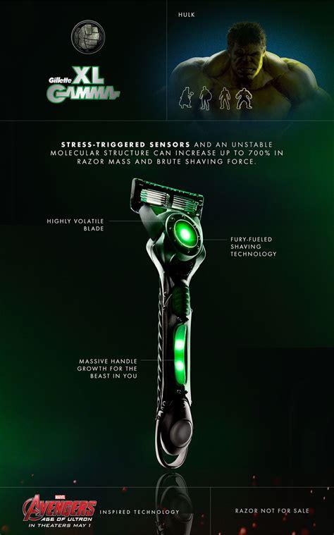 avengers  gillette razors    geek