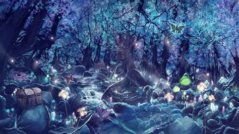 Animal Magic Wallpaper - fantastic world animals magic magical forest neon