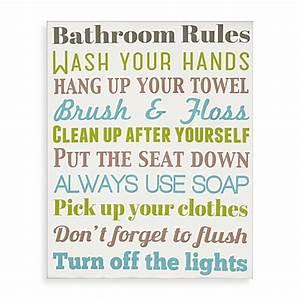 Bathroom Rules Wall Art - Bed Bath & Beyond