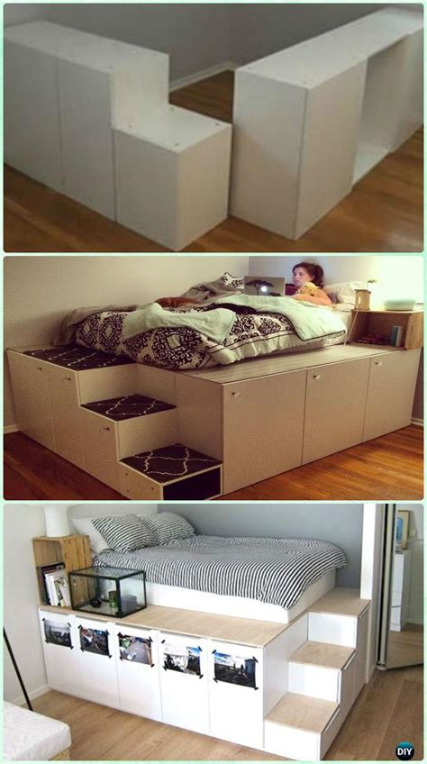 diy space saving bed frame design  plans instructions