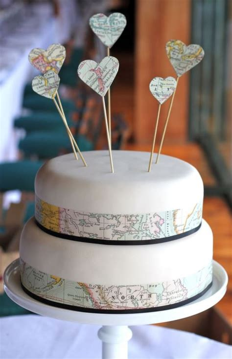 beautiful travel themed wedding cakes weddingomania