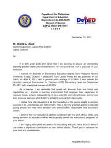 Application Letter Teacher Philippines