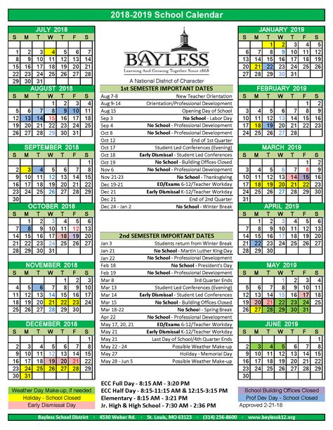 bayless school district calendar publicholidaysus