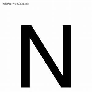 black alphabet letters alphabet printables org With alphabet letter n
