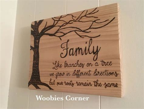family quote sign wooden family sign wood burned sign
