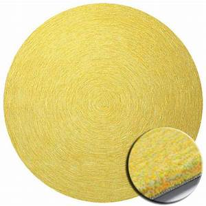 tapis rond jaune esprit home colour in motion With tapis rond jaune