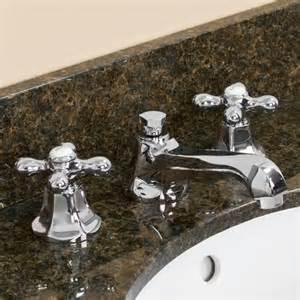 york widespread lavatory faucet  metal cross
