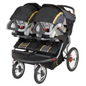 Twin Stroller with Car Seat Combo